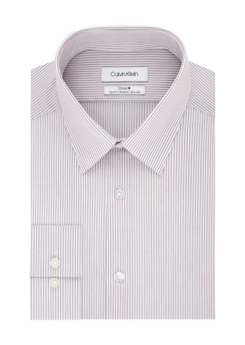 Calvin Klein Slim-Fit Striped Stretch Dress Shirt