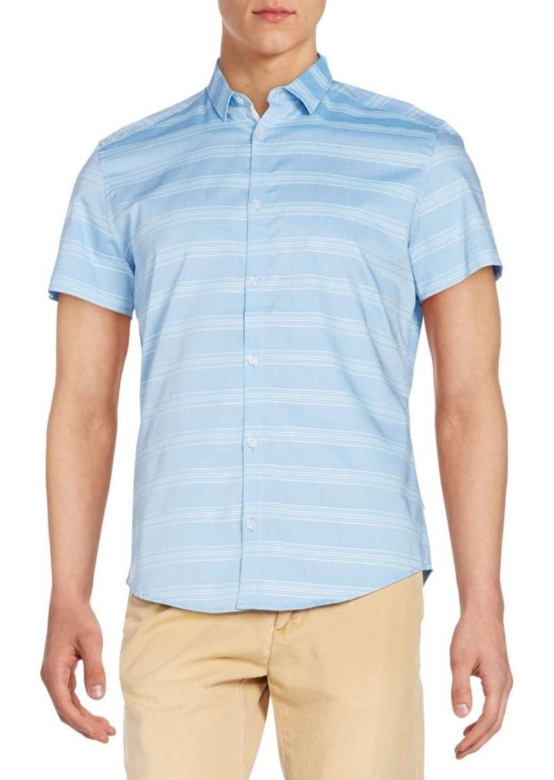Calvin Klein Slim-Fit Tonal Striped Sportshirt