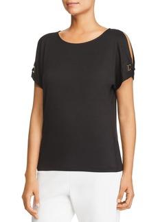 Calvin Klein Slit-Sleeve Top