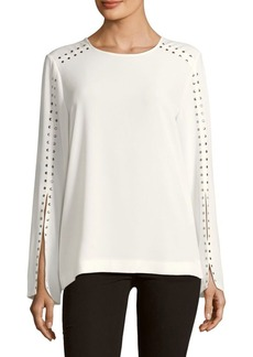 Calvin Klein Slit Sleeves Pullover Top