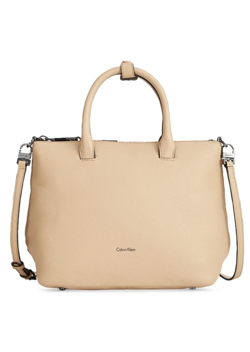 calvin klein calvin klein nyla small satchel handbags shop it to me. Black Bedroom Furniture Sets. Home Design Ideas