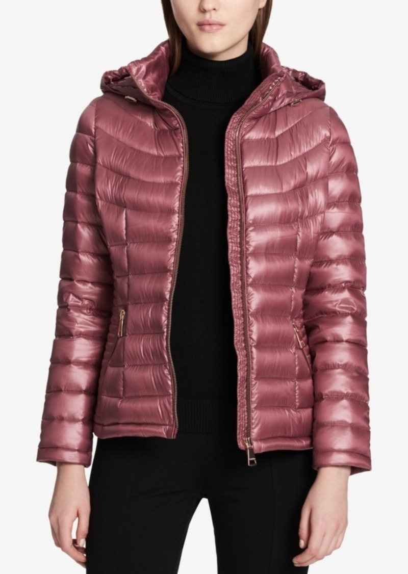 Calvin Klein Smocked Down Puffer Coat