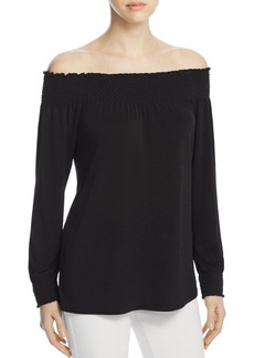 Calvin Klein Smocked Off-the-Shoulder Top