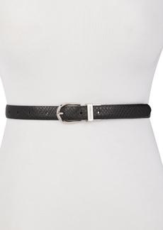 Calvin Klein Snake-Embossed Reversible Belt