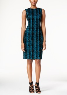 Calvin Klein Snake-Print Sheath Dress