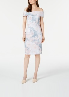 Calvin Klein Petite Soft Floral Sheath Dress