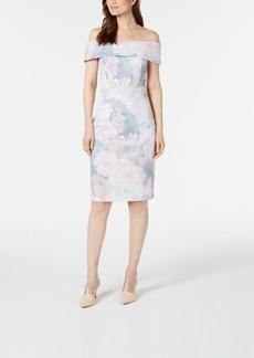 Calvin Klein Petite Soft Floral Sheath Dress