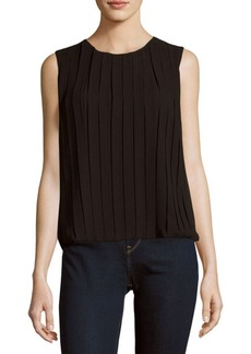 Calvin Klein Solid Box-Pleat Top