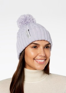 Calvin Klein Solid Cable-Knit Beanie