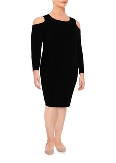 Calvin Klein, Plus Size Solid Cold Shoulder Dress
