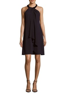 Calvin Klein Solid Draped-Front Dress