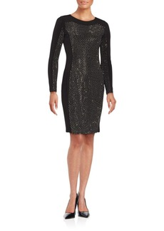 Calvin Klein Solid Embellished Sheath Dress
