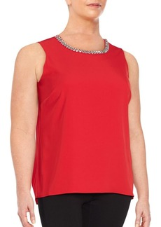 Calvin Klein, Plus Size Solid embellished Top