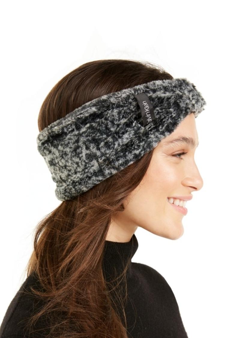 Calvin Klein Solid Faux Fur Headband