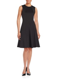 Calvin Klein Solid Fit & Flare Dress