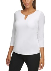 Calvin Klein Solid Hardware Keyhole Top