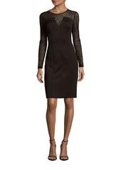 Calvin Klein Solid Illusion Sheath Dress