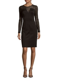 Calvin Klein Solid Illusion Sheath Dress