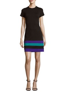 Calvin Klein Solid Jacquard Sheath Dress