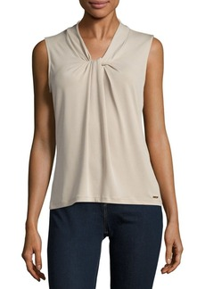 Calvin Klein Solid Knot-Front Top