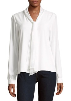 Calvin Klein Solid Long Sleeve Top