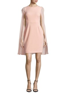 Calvin Klein Solid Petal Cape Dress