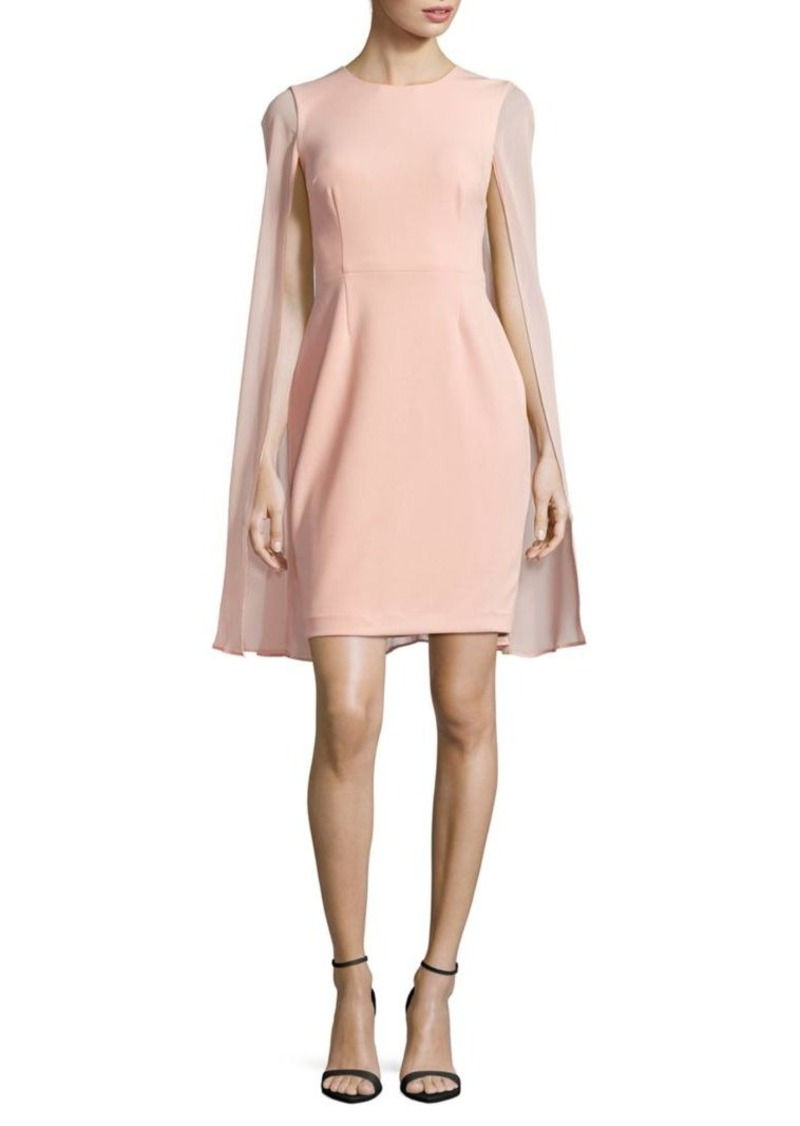 Calvin Klein Cape Sheath Dress