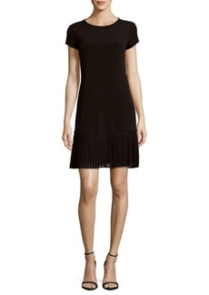Calvin Klein Solid Pleated Dress