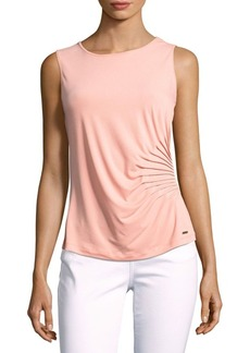 Calvin Klein Solid Pleated Tank Top