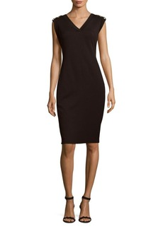 Calvin Klein Solid Ponte Dress