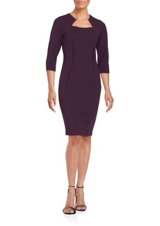Calvin Klein Solid Queen Anne Dress