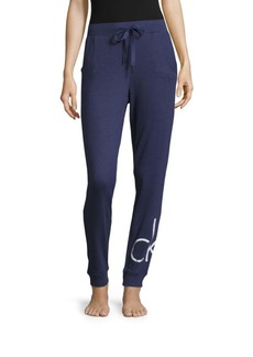 Calvin Klein Solid Ribbed Jogger Pants