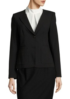 Calvin Klein Solid Single-Breasted Jacket