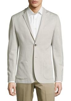 Calvin Klein Solid Slub Knit Jacket