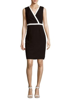Calvin Klein Solid Star-Neck Dress