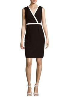 Calvin Klein Solid Star-Neck Dress