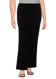 Calvin Klein Solid Wide-Legged Pants