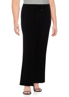 Calvin Klein Solid Wide-Legged Pants