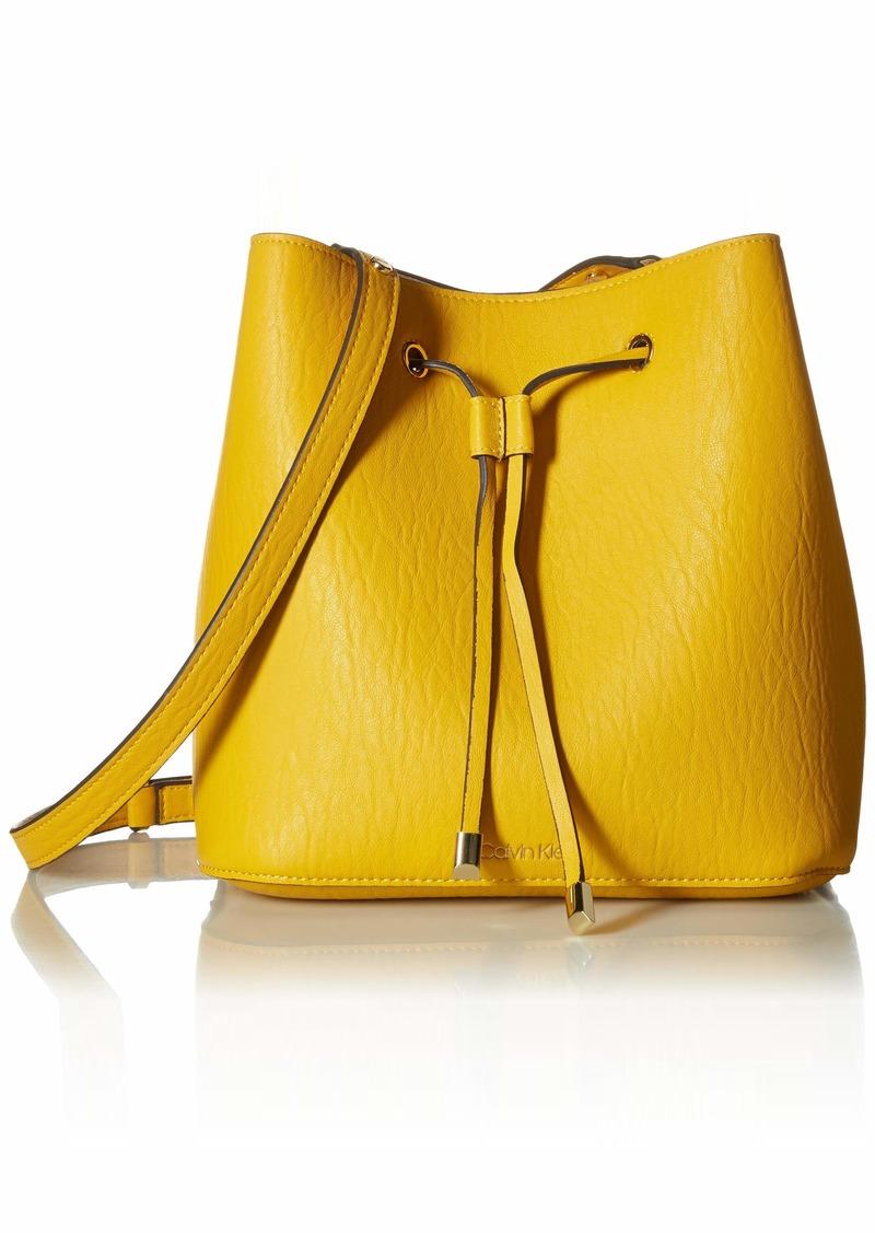 Calvin Klein Sonoma Bubble Lamb Novelty Drawstring Hobo marigold