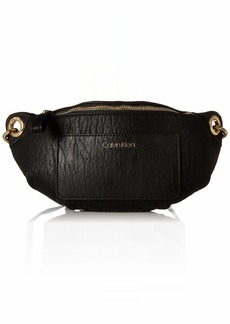 Calvin Klein Sonoma Bubble Lamb Novelty Key Item Fanny Pack Belt Bag black