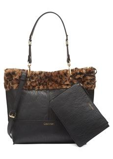 Calvin Klein Sonoma Faux-Fur Leopard Tote
