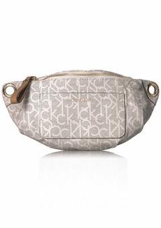 Calvin Klein Sonoma Signature Monogram Belt Bag textured almond/khaki