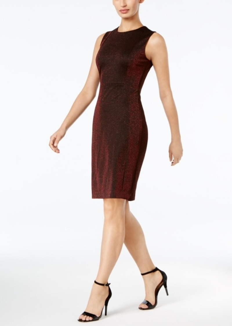 9d62ad960d5e8 Calvin Klein Calvin Klein Sparkle Sheath Dress