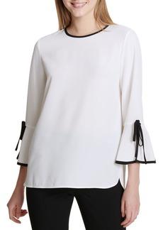 Calvin Klein Split Bell Sleeve Blouse