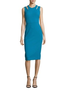 Calvin Klein Split Neck Sheath Dress