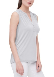 Calvin Klein Split-Neck Sleeveless Top