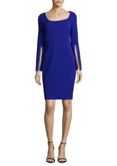 Calvin Klein Split Sleeve Sheath Dress