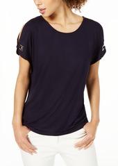 Calvin Klein Split-Sleeve Top