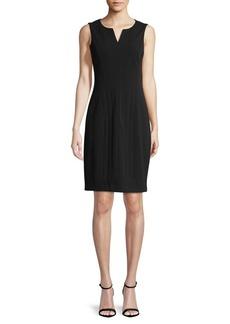Calvin Klein Split V-Neck Shift Dress