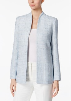 Calvin Klein Stand-Collar Boucle Blazer